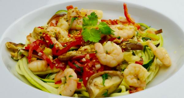 courgette-noodles-met-garnalen